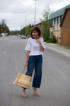 0319d09b7fa4 How To Wear Wide Leg Crop Jeans (Cyndi Spivey)