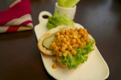 Vegan Buffalo Chickpea Salad Sandwiches