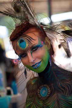 3d women art gallery | Peacock Woman – Body Art Carnivale