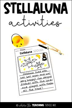 "This packet is the perfect companion to the book, ""Stellaluna."" It will bring the story to life for your students and will help build key reading comprehension skills. It includes reading/writing graphic organizers, writing activities, and a fun ""spin & color"" word work center game. Makes a great addition to any Halloween or bat themed unit! For grades K-2."
