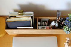 デスクのもの入れ Home Hacks, Floating Nightstand, Magazine Rack, Stationery, Cleaning, Organization, Cabinet, Storage, Interior