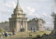The Tomb of Absalom Jerusalem Luigi Mayer | Oil Painting Reproduction | 1st-Art-Gallery.com
