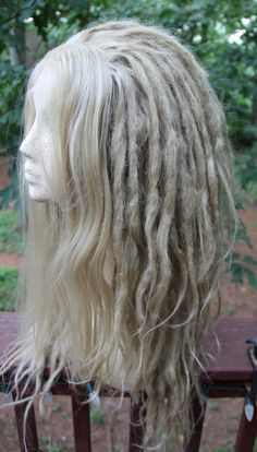 Lace-Front vuile Blonde synthetische Dreadlock aangepaste pruik * Dreads * Synthetische Dreads * wol Dreads * Dread Extensions * Wildling * dystopie