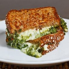 Sandwich ~ Spinach Pesto Grilled Cheese