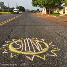 inspirational sidewalk chalk art for kids inspirational sidewalk chalk art . inspirational sidewalk chalk art for kids . Shine Your Light, Light In The Dark, Chalk Design, Chalk Wall, Sidewalk Chalk Art, Foto Instagram, Chalkboard Art, Mellow Yellow, Art Drawings