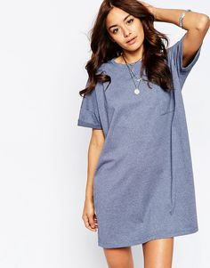 Robe t-shirt casual oversize avec poche
