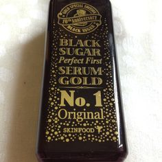 Pretty Little Things: Review: Skinfood Black Sugar 10th Anniversary Gold Special Edition Perfect First Serum
