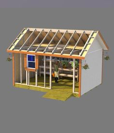 Shed plans for this 12x16 gable roof style shed are perfect for building a nice garden shed for your wife!