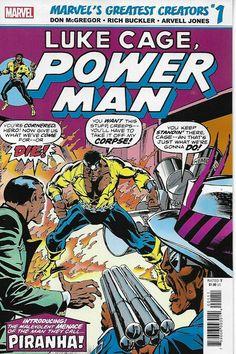 Reprints content originally published in Power Man Luke Cage Comics, Luke Cage Marvel, Comic Book Covers, Comic Books, Heroes For Hire, Comic Art Community, Power Man, Man Vs, School Fun