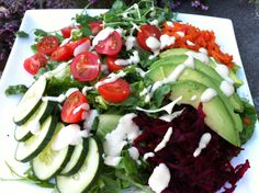 """I was really inspired to make this salad though after visiting Cafe Bliss in Victoria, BC and trying out their """"bliss salad"""". *(Serves 2 people generously) Abundant Garden Salad 2 fresh grated beets 3 grated carrots 1 avocado 1 cup pea or sunflower sprouts 1 cucumber 1 cup cherry tomatoes, sliced 1/4 cup pumpkin or […]"""