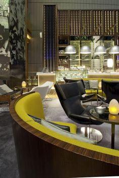 Green Restaurant in Hong Kong designed by CL3 Architects  modern eclectic neon pops, cozy romantic