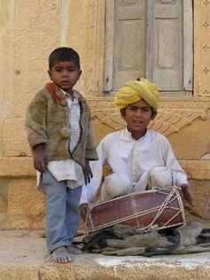 Image detail for -india_jaisalmer_children_playing_music.jpg
