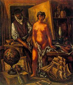 Arturo Souto, workshop-of-the-artist-1935