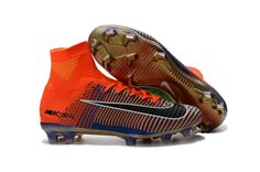 a40f9667 Nike Mercurial Superfly V FG Soccer Shoes Blue Gold Red on  www.evensoccer.com