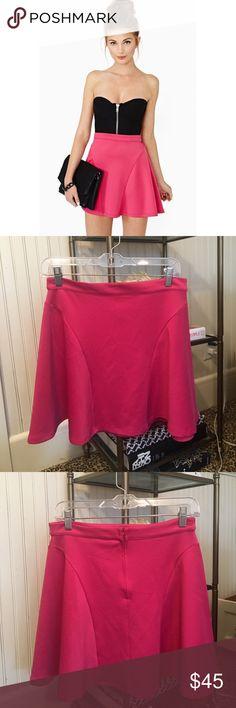 Nasty Gal Skater Skirt in Deep Pink NWOT Nasty Gal Skater Skirt in Deep Pink Nasty Gal Skirts Circle & Skater