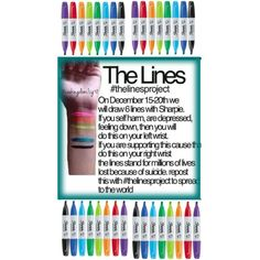 The Lines Project I want to 20 people to do this especially you're in middle school you guys do it I will be