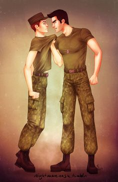 Sterek military AU by trasigpenna.deviantart.com on @deviantART
