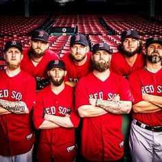 Love the beards. Love the team. Love the fact that this picture shows Pedroia's height compared to the other guys.
