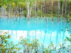 Blue pond  Biei.