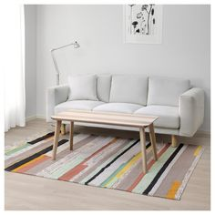 IKEA - BRÖNDEN, Rug, low pile, Hand-woven by skilled craftspeople, each one is unique.Made in India in organized weaving centers with good working conditions and fair wages.The rug is made of pure new wool so it's naturally soil-repellent and very durable.