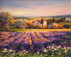 french countryside lavender painting | lavender provence