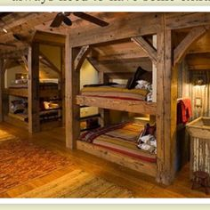 Cabin double bunk beds
