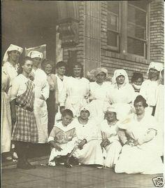Vintage Old Photo Group of Nurses in Uniforms 1917