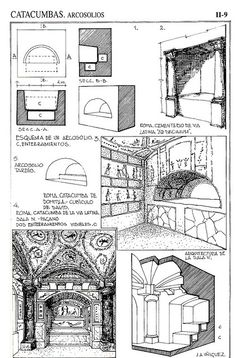 Ejemplos de Arcosolios.