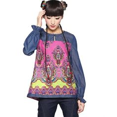 #Swanmarks Liebo New Wash Jean Puff Sleeved Blouse