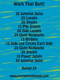 Work That Butt Lower Body Circuit Workout