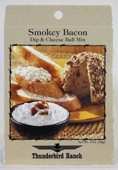 Smokey Bacon Cheese Ball & Dip Mix – Thunderbird Ranch Gourmet Foods