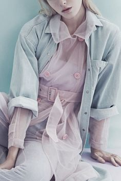 pink and denim