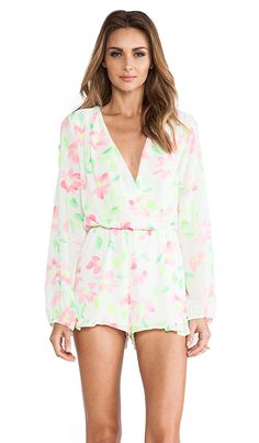 Eight Sixty Romper in White & Highlighter | REVOLVE