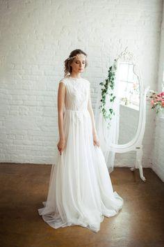 Tessa / Light robe de mariée vintage / deux pièces