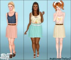 Bird Lullaby - Spring dress at Anubis Under The Sun - Sims 3 Finds