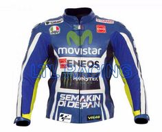 MOTOGP YAMAHA ENEOS MOVISTAR VR 46 2015 MOTORBIKE LEATHER RACING JACKET #LTLRACING