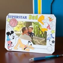 Mickey & Friends Color-In Father's Day Frame - Disney Family