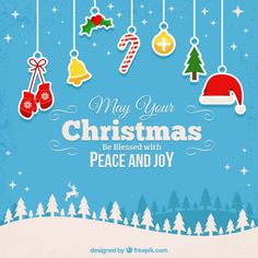 Blessed christmas background Free Vector