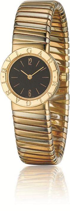 BULGARI A Gold Lady's 'Tubogas' Wristwatch