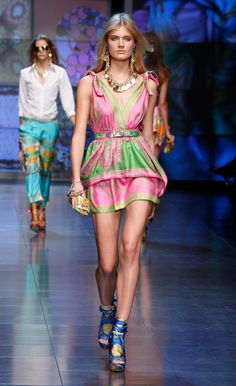 D&G S/S '12  pink and green
