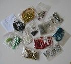 Vtg Lot 13 Pkg SEQUINS/BEADS Assorted Color Some w/MATCHING THREAD + NEEDLE - http://sewingpins.net/sewing/notions/vtg-lot-13-pkg-sequinsbeads-assorted-color-some-wmatching-thread-needle/
