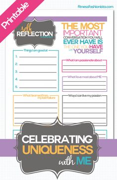 Use this printable to do a bit of self reflection about what makes you AMAZING #ThisIsMe #motivation #loveME #printable #goalsetting #newyear