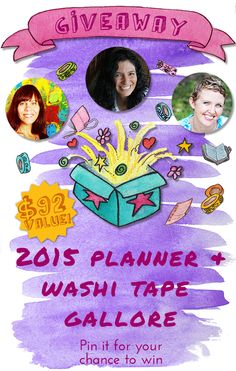 It is GIVEAWAY TIME! Come on over for your chance to win planners AND Washi tapes! ;) http://limetreefruits.com/planners-washi-tape-giveaway/