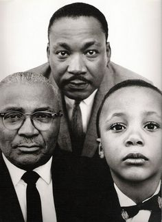 Martin Luther King  sr, jr, and son....great photo!