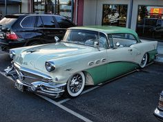 1956 Buick Special with caddy hubcaps.  For its time the Buick Special was one of America's best selling old cars.