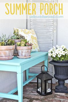 Yellow Bliss Road: Front Porch Piano Bench Makeover - From Drab to Fab via @Kristin Bergthold   Yellow Bliss Road Love!