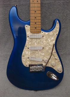 1997 Fender Deluxe Strat Plus Blueburst on Ash