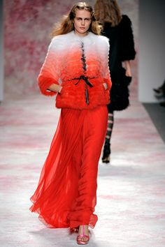 This Angeleno appreciates great outerwear. Especially this dream like ombre fur coat from Prabal Gurung F11 collection.