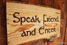 Speak Friend and Enter Lord of the Rings Quote Funny by HomenStead. , via Etsy.