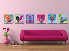 Trolls Wall Art-Trolls Posters-Trollsl Bedroom by DigidesignArt